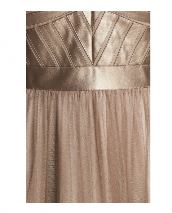 aidan_mattox_sleeveless_faux_leather_tulle_party_cocktail_dress_gold_closeup