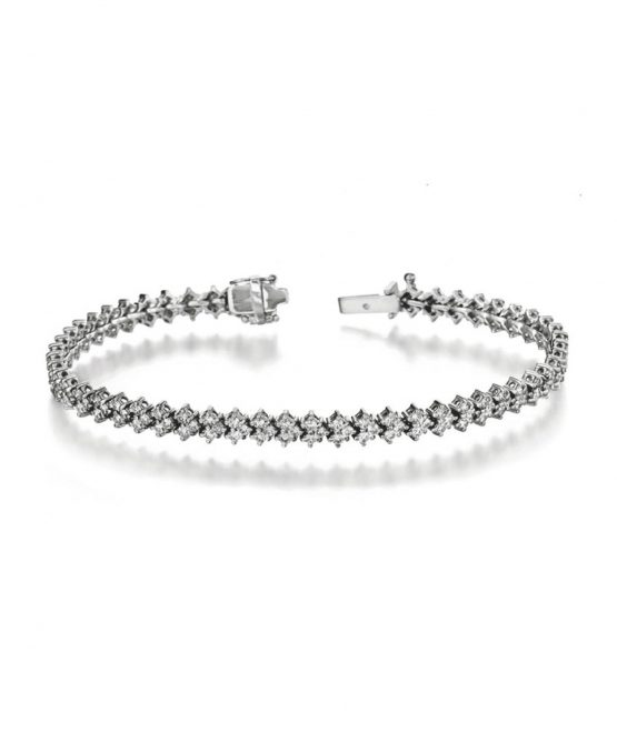 Arrow tennis bracelet 14k gold Canada