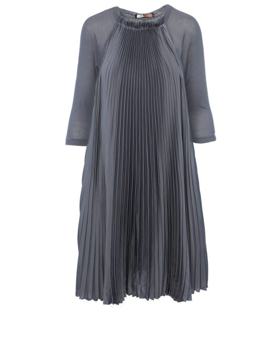 bcbg_max_azria_grey_pleated_tent_cocktail_casual_dress
