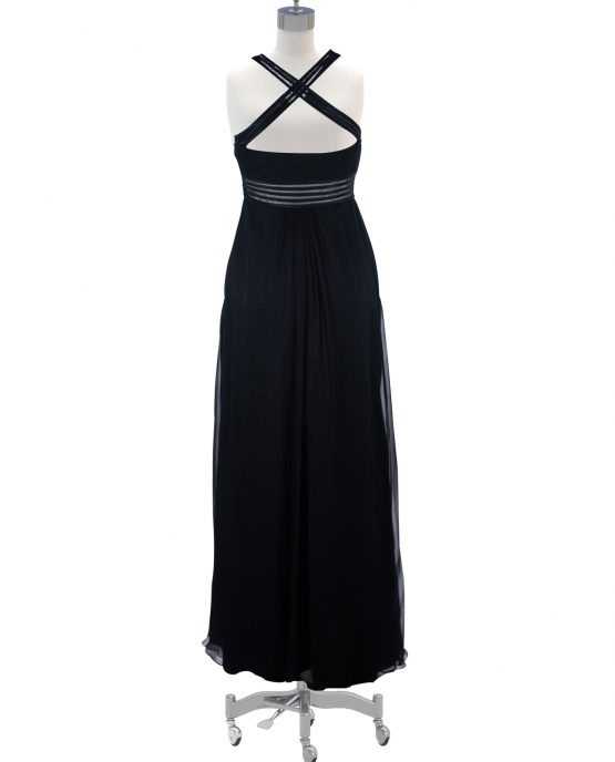 black_chiffon_aidan_mattox_cocktail_red_carpet_dress_full_length_back