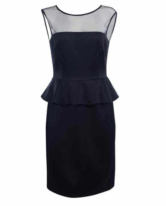 Marc Jacobs Black Cocktail Dress Peplum