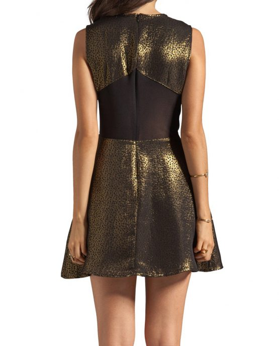 charles_henery_cocktail_dress_gold_metalics_back_model1