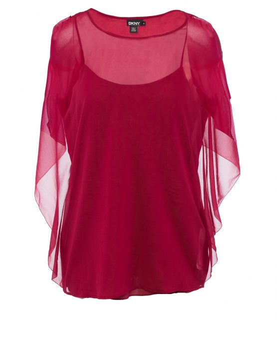dkny_blouse_red_silk_drapey_pullover_blouse_top