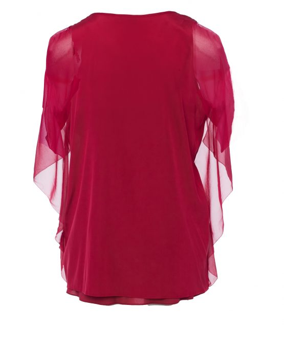 dkny_blouse_red_silk_drapey_pullover_blouse_top_back