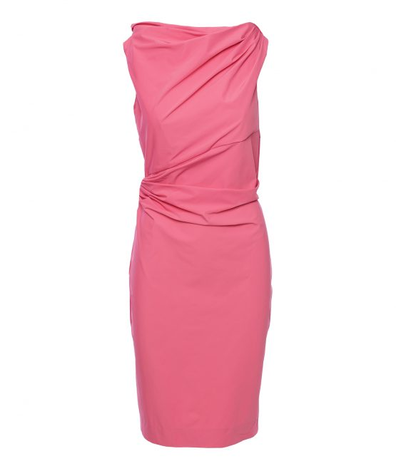 DVF Pink Dress Draped