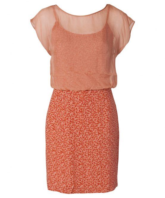 French Connection Peach Dress