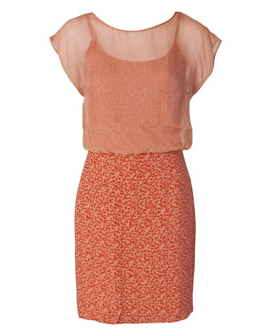 french_connection_peach_crepe_sequin_cocktail_dress