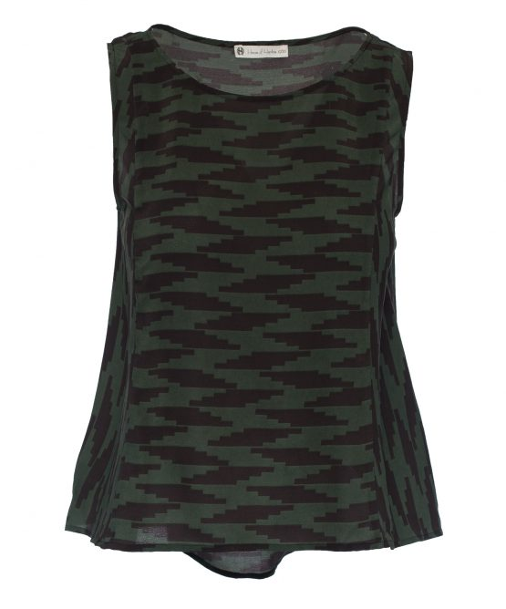 House Of Harlow Army Green Tank Top