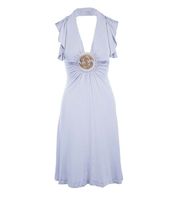 just_cavalli_grey_silver_medalion_summer_casual_dress
