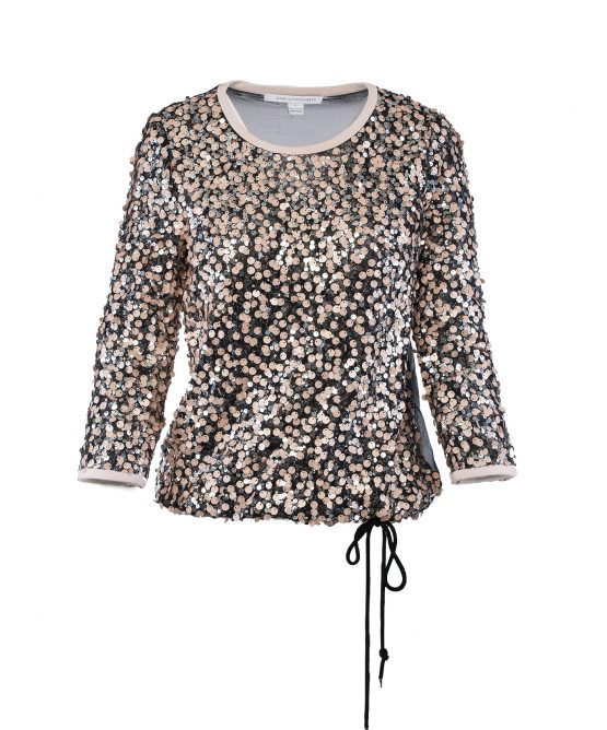 DVF Kativa Sequin Top Blouse