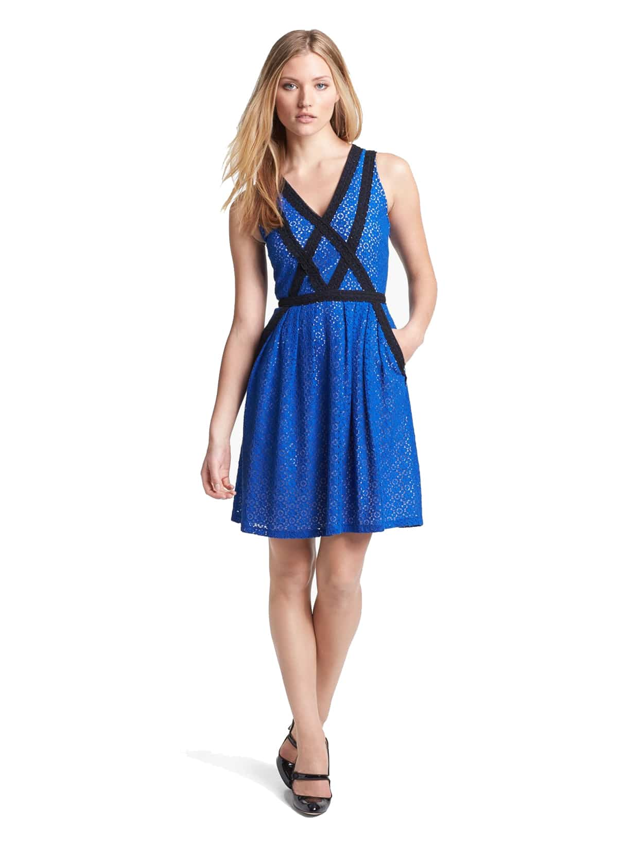 62c67f7b2 marc-jacobs-casual-dress-colorblock-blue.  marc jacobs fit and flare royal blue wear to work dress