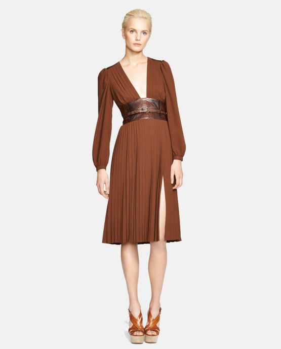 michael-kors-leather-belted-pleat-dress