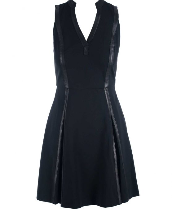 rebecca_taylor_black_dress_ponte_leather_trim_off_dressform