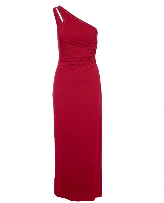 shelli_segal_laundry_red_cocktail_dress_one_shoulder