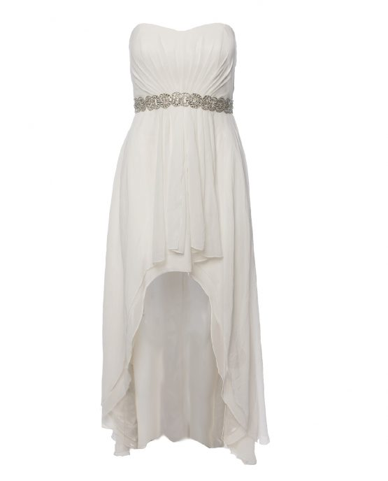 Escape White Bridal Dinner Party Dress High Low