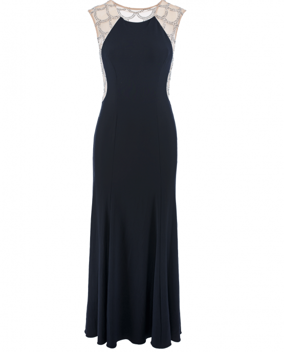 xscape_navy_blue_gown_train