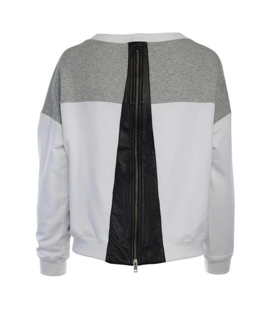 Aiko Chlorblock sweatshirt leather panel