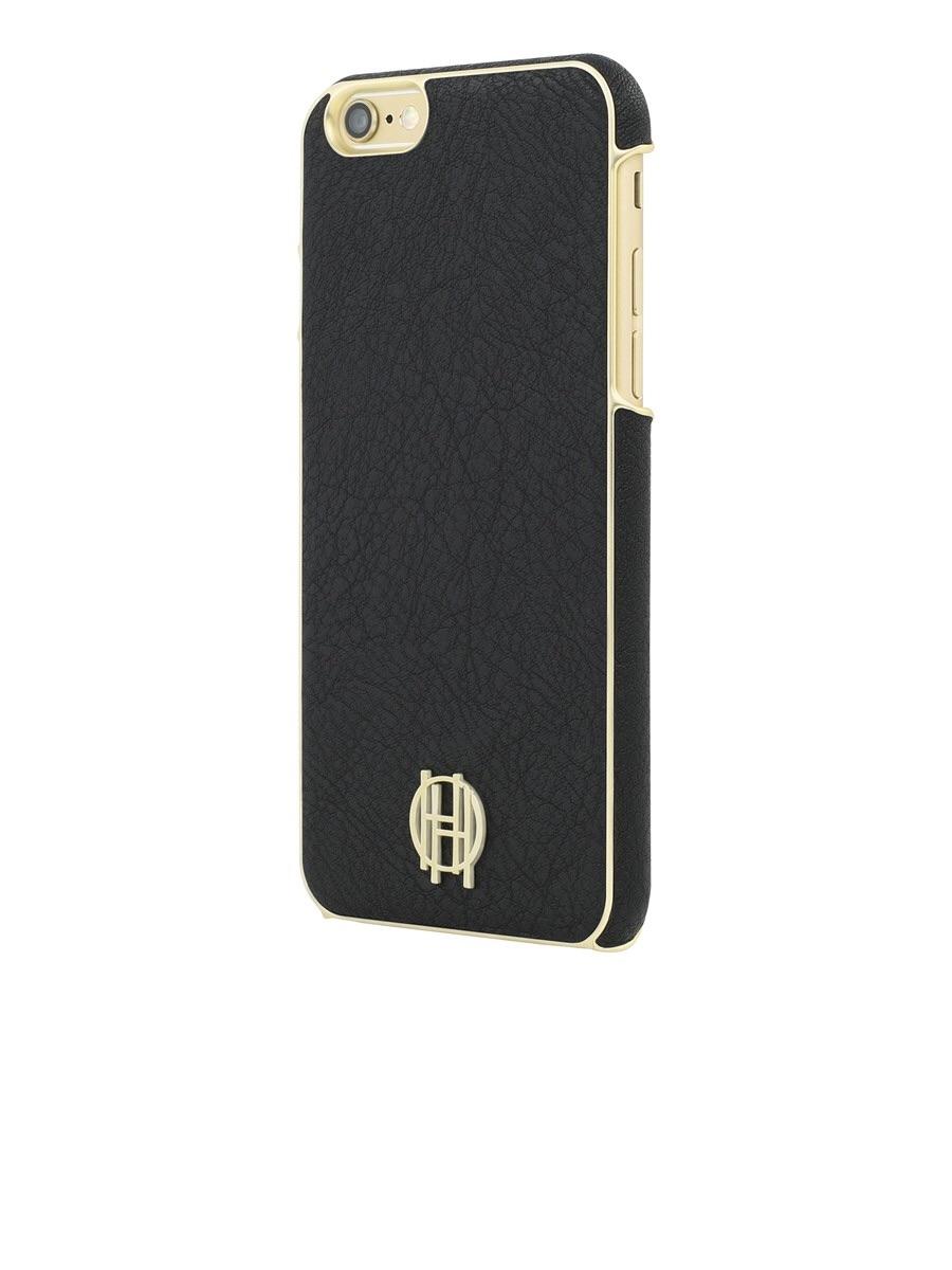wholesale dealer c8cd1 14648 House of Harlow iPhone 6/6s Case – Black Leather /Gold Metallic Trim