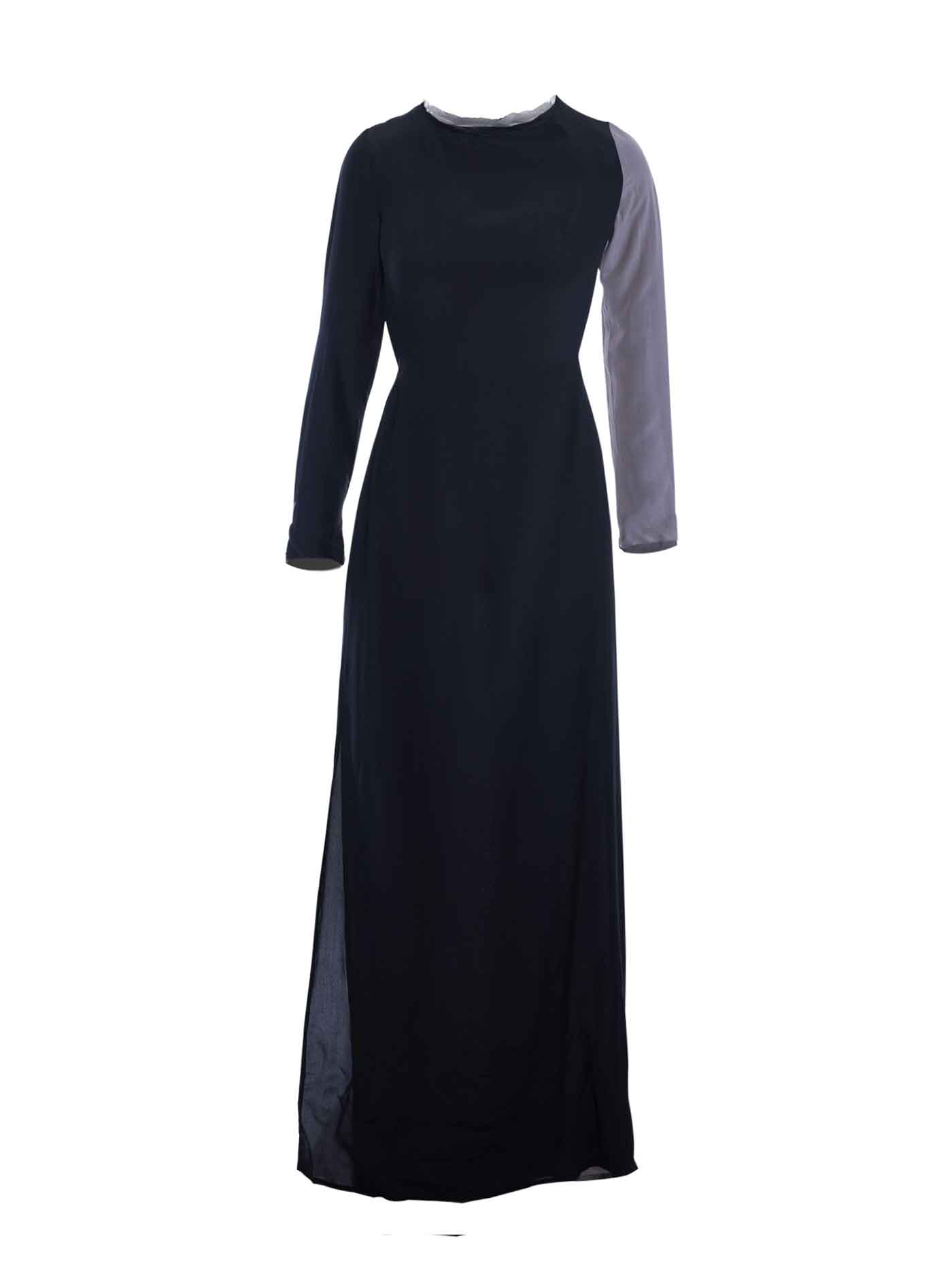 b31bf1c10ddc7 Winter Kate Color Block Long Silk Dress - fEROSh