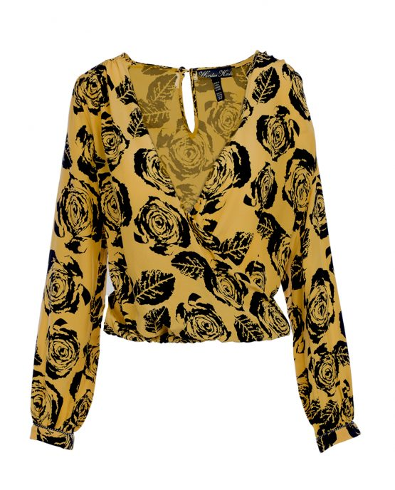 winter-kate-silk-blouse-deep-v-yellow-floral