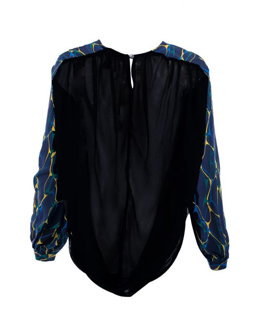 blue-pattern-house-of-harlow-blouse