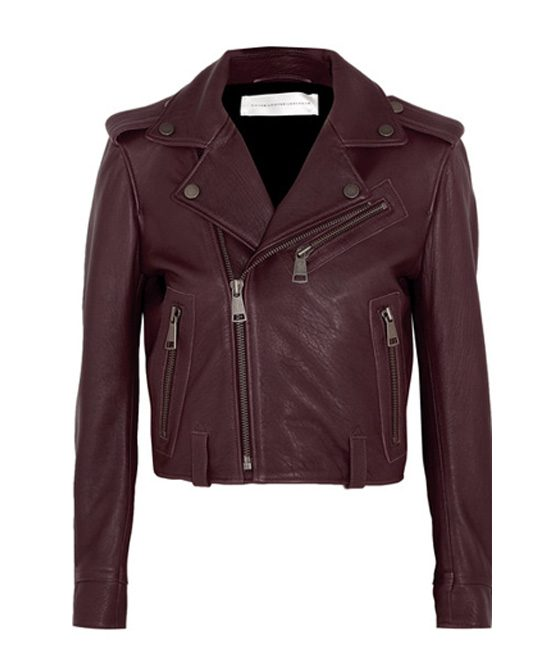 Brown Victoria Beckham Leather Jacket