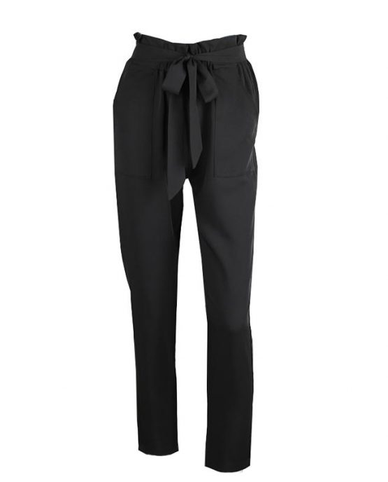 Ankle Length Cargo Pant Black