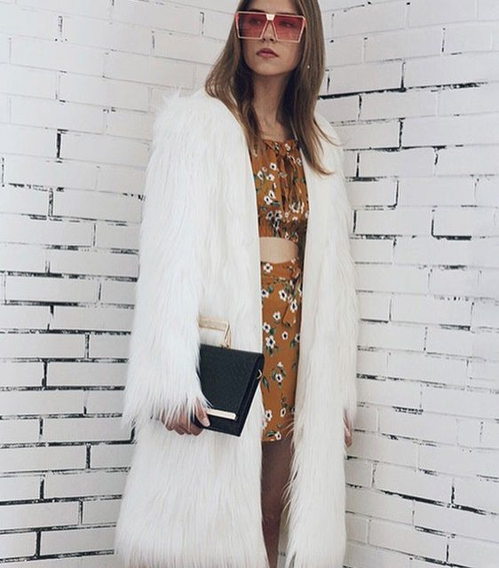 The hooded faux fur coat is a fallwinter musthave! FREEhellip