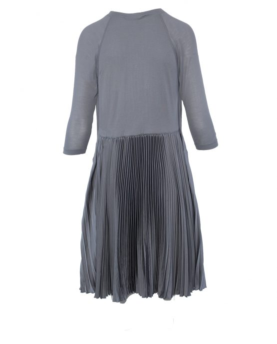 bcbg_max_azria_grey_pleated_tent_cocktail_casual_dress_back
