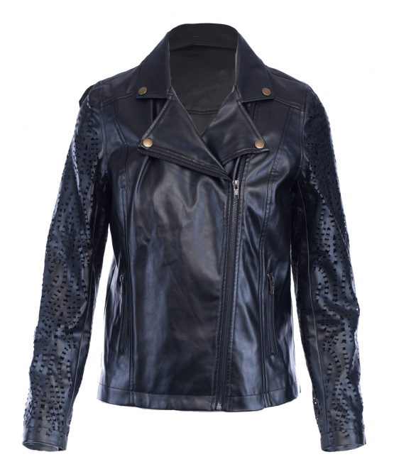 Dye Cut Faux Leather Jacket Ramona