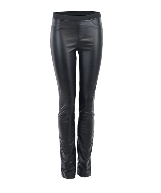 Holt Renfrew Black Vegan Faux Leather Pant