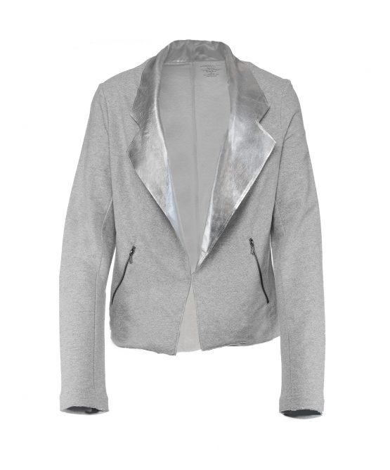 Majestic Paris Blazer Grey Leather