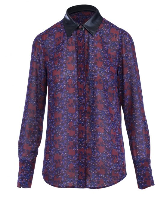 House Of Harlow Skull Print Blouse