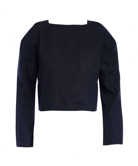 Black - House Of Harlow long sleeve top.