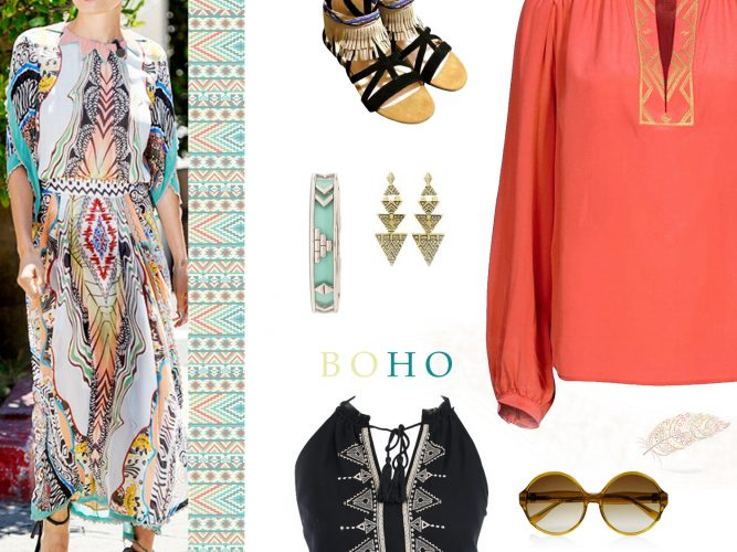 Boho Aztec fashion clothes inspired designs
