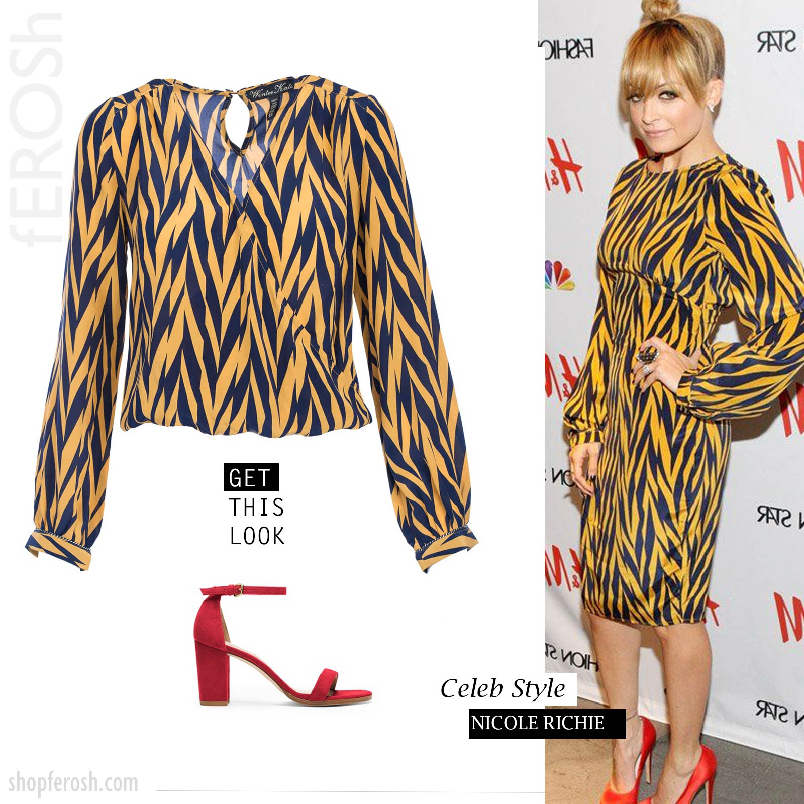 winter kate nicole richie blouse dress